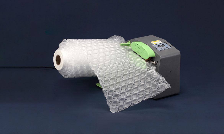 air bubble cushion film in machine