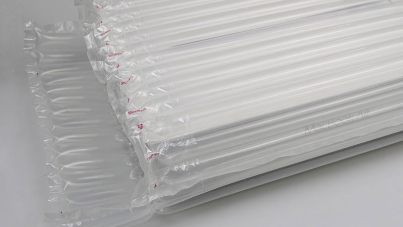 Details of laptop air cushion packaging