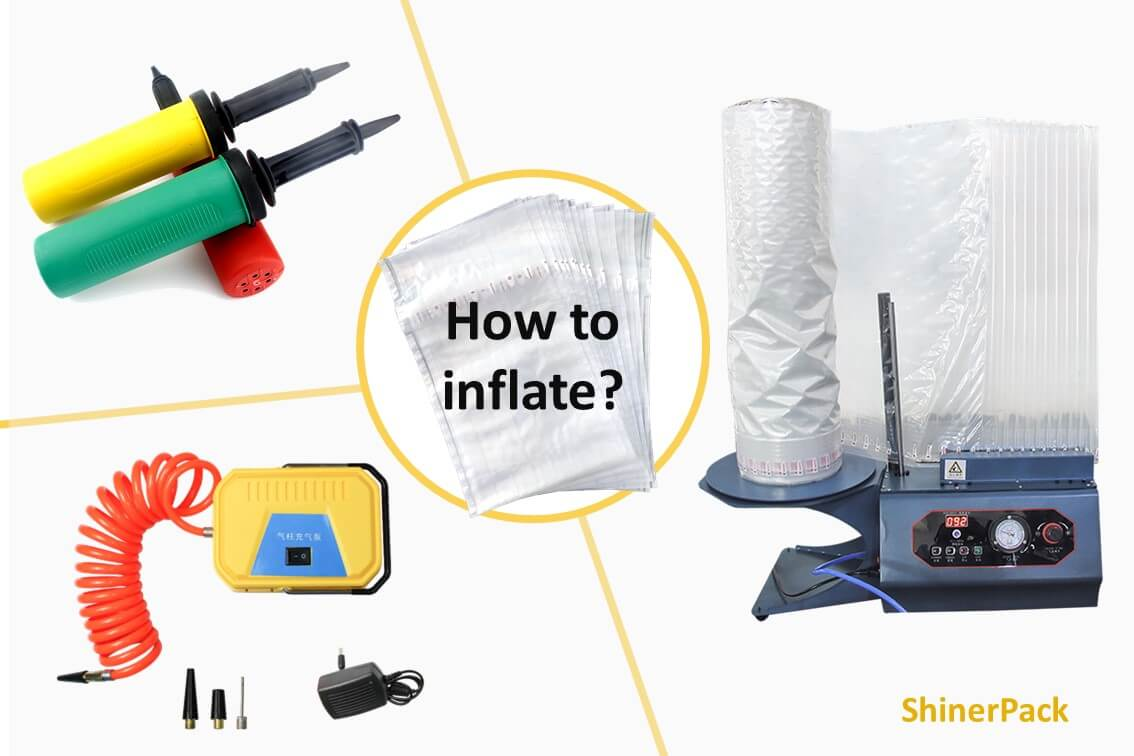 How to inflate air column bag